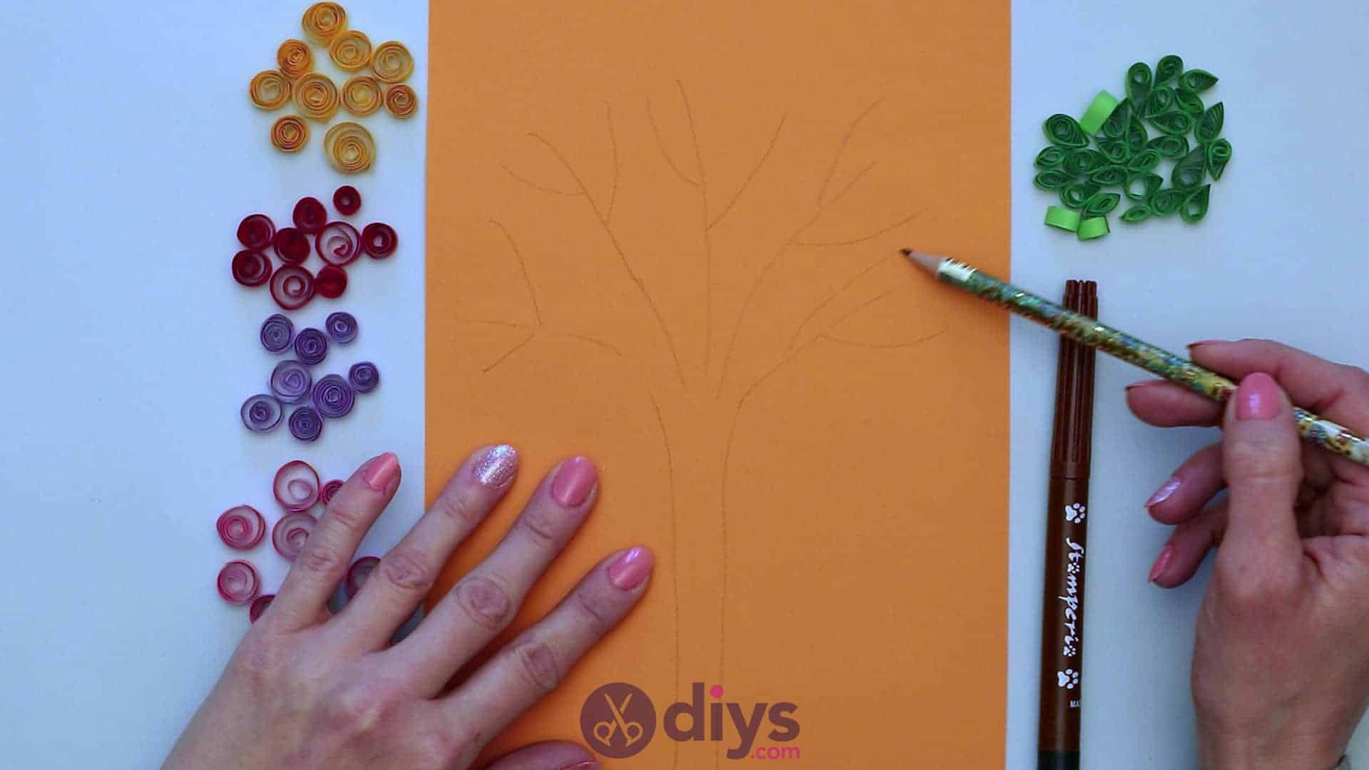 Diy paper spring tree step 5a
