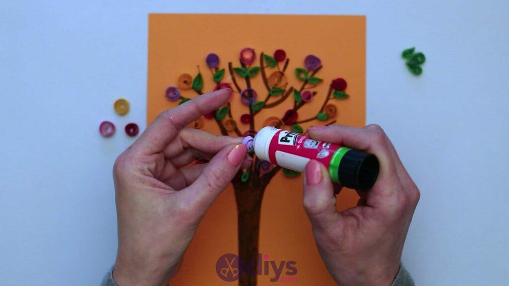 Diy paper spring tree step 5aa