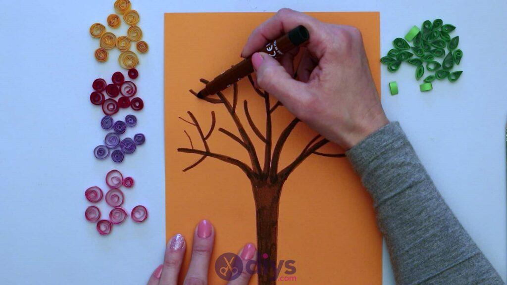 Diy paper spring tree step 5d