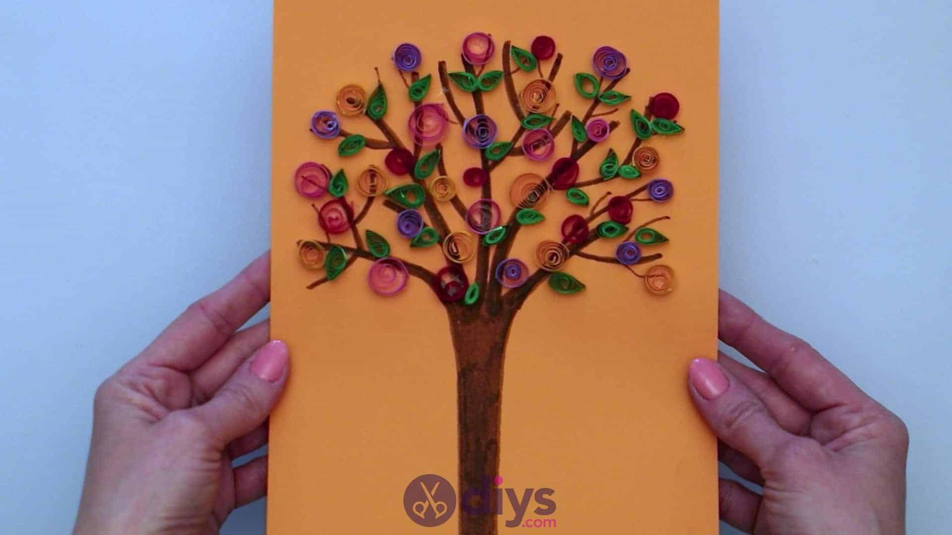Diy paper spring tree step 5dg