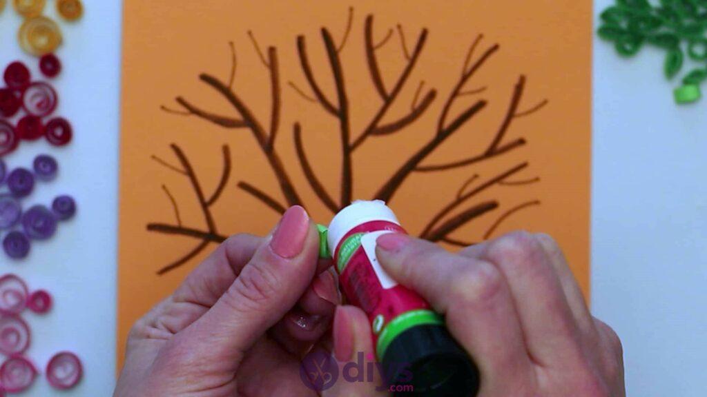 Diy paper spring tree step 5f