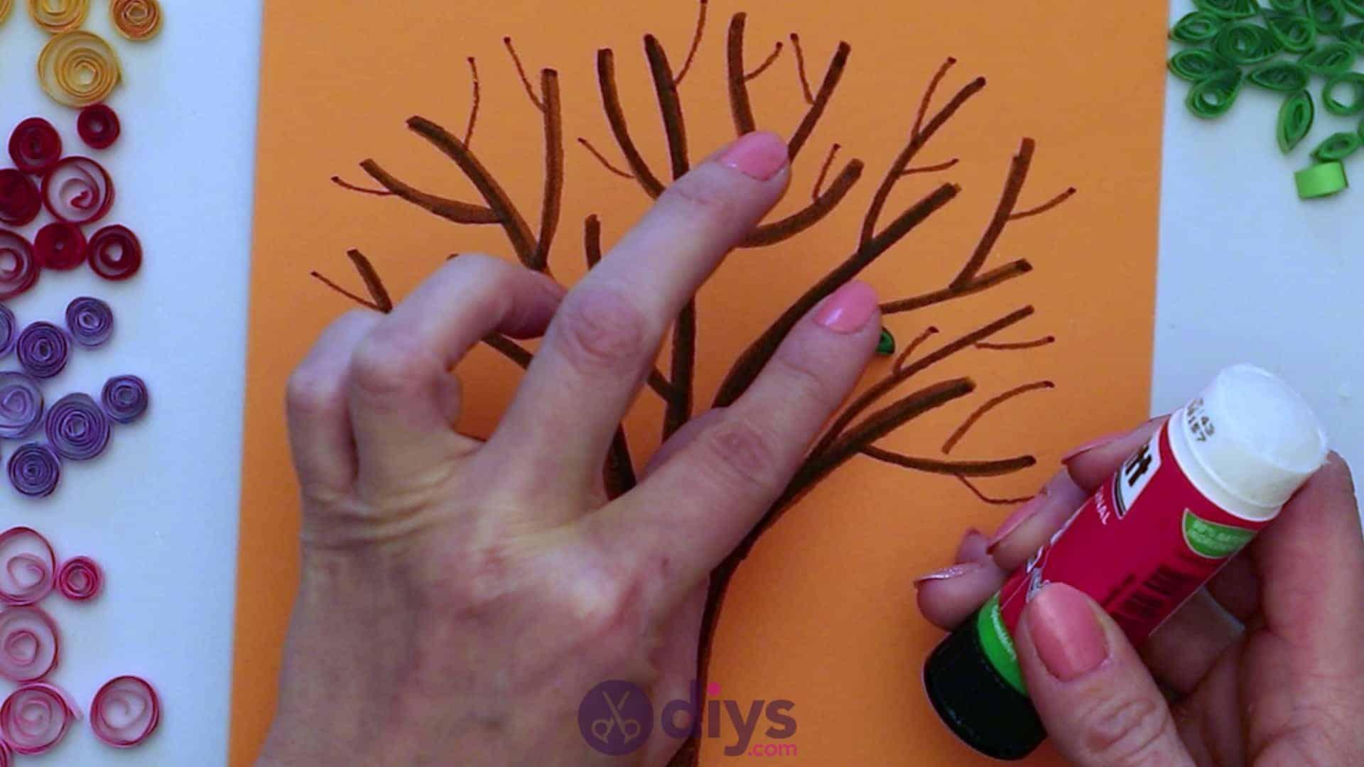 Diy paper spring tree step 5g