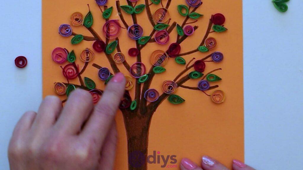 Diy paper spring tree step 5gt