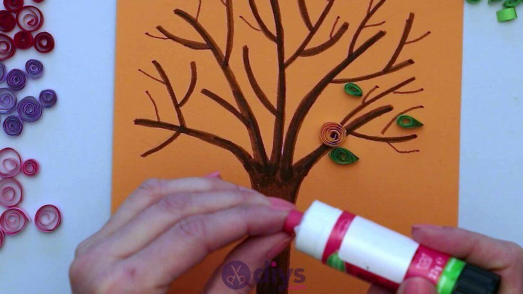 Diy paper spring tree step 5jd