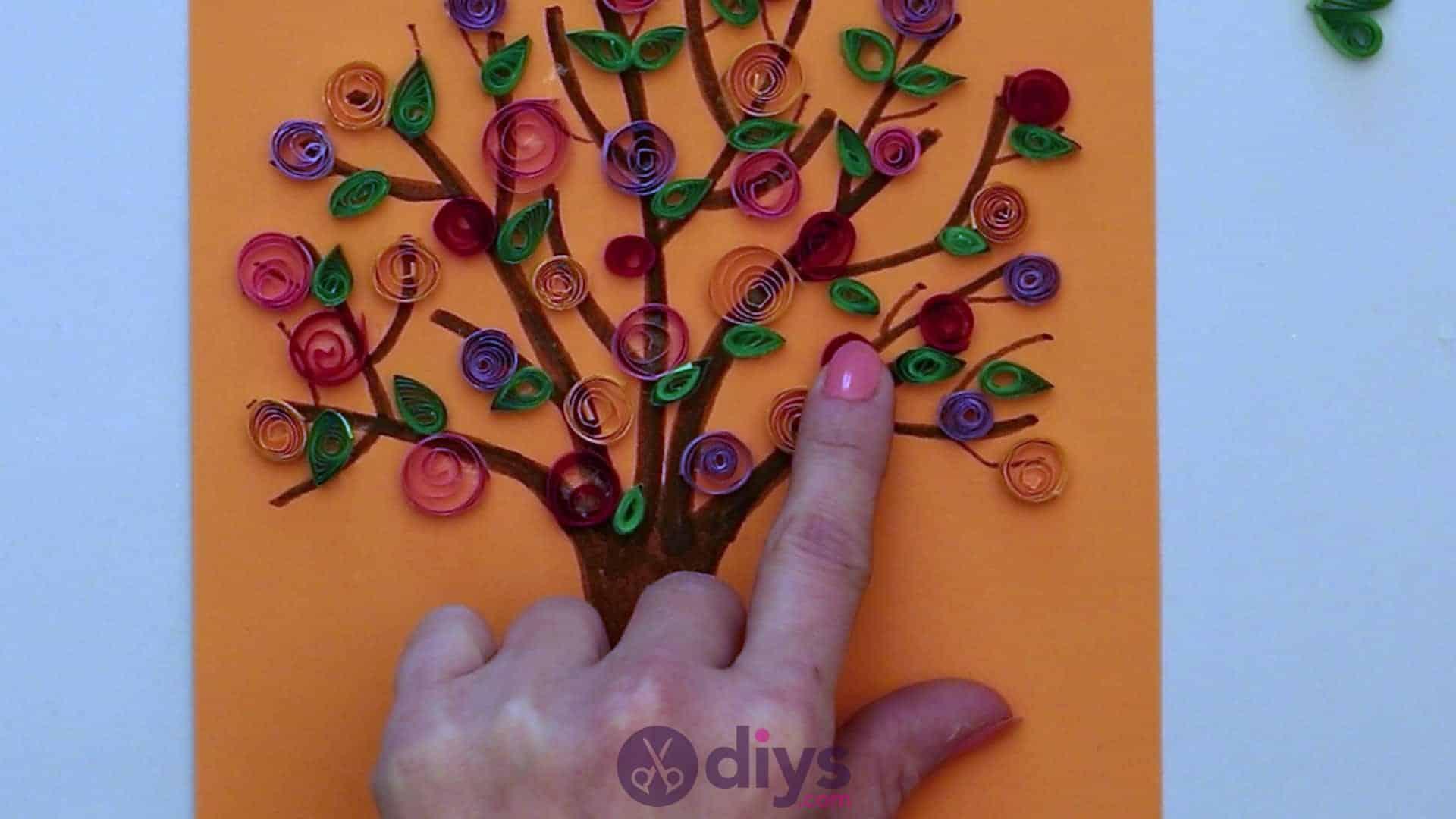 Diy paper spring tree step 5vv