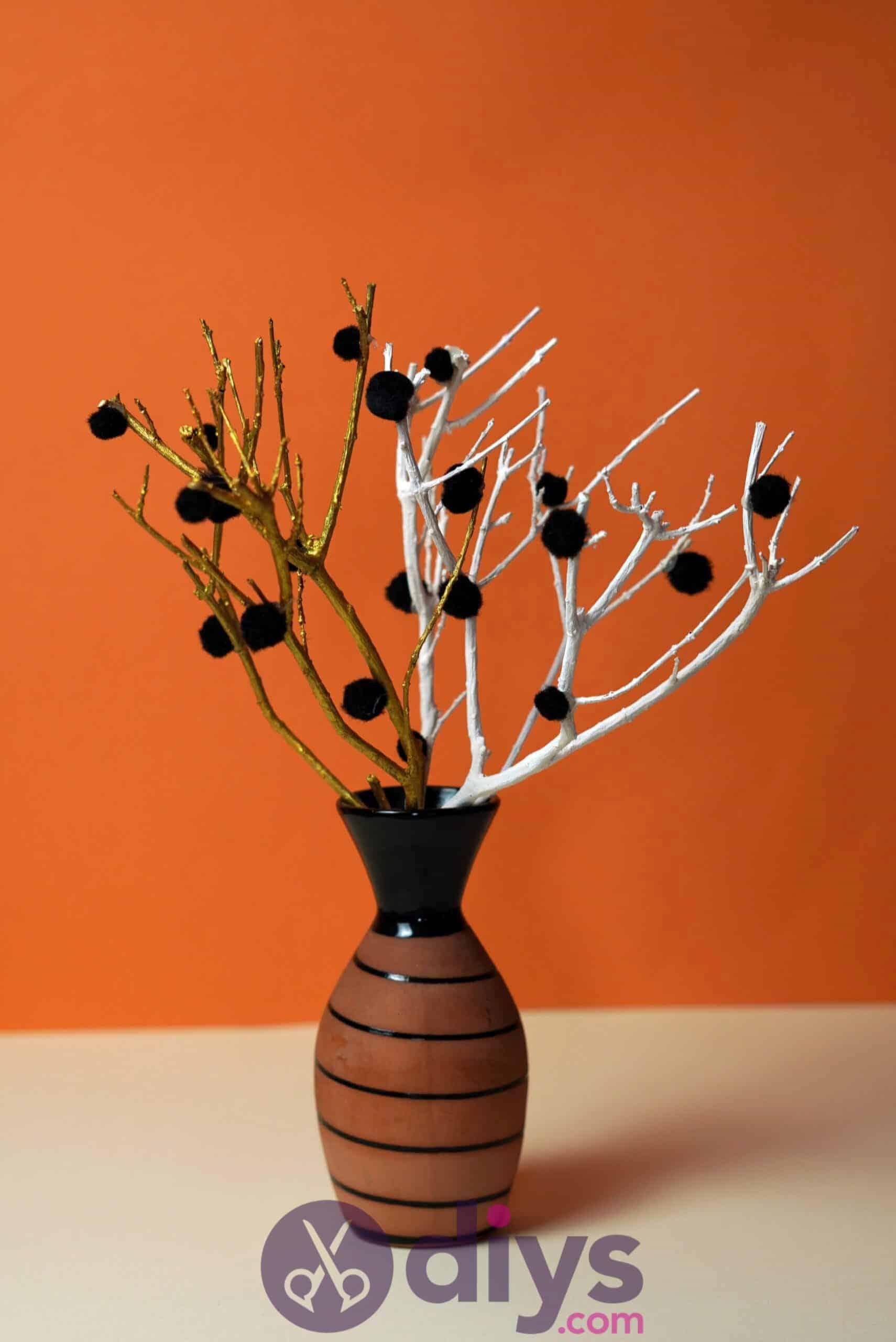 Diy pom pom tree art cool design