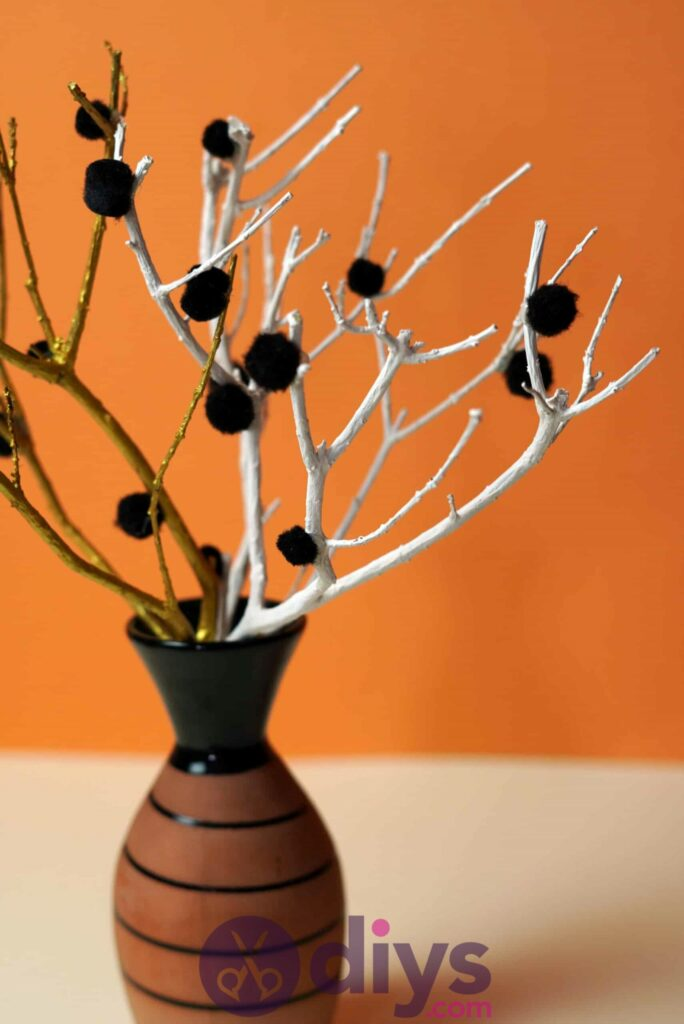 Diy pom pom tree art project