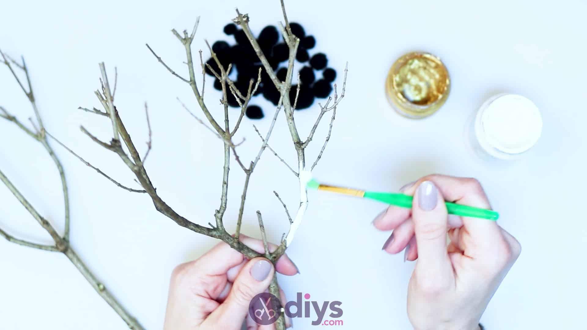 Diy pom pom tree art step 2a