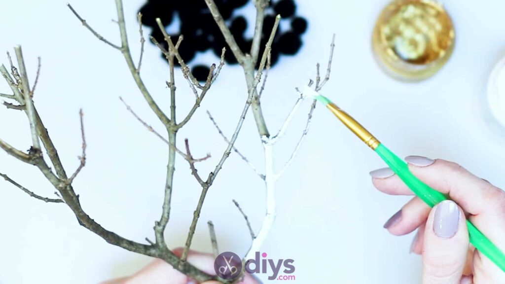 Diy pom pom tree art step 2b