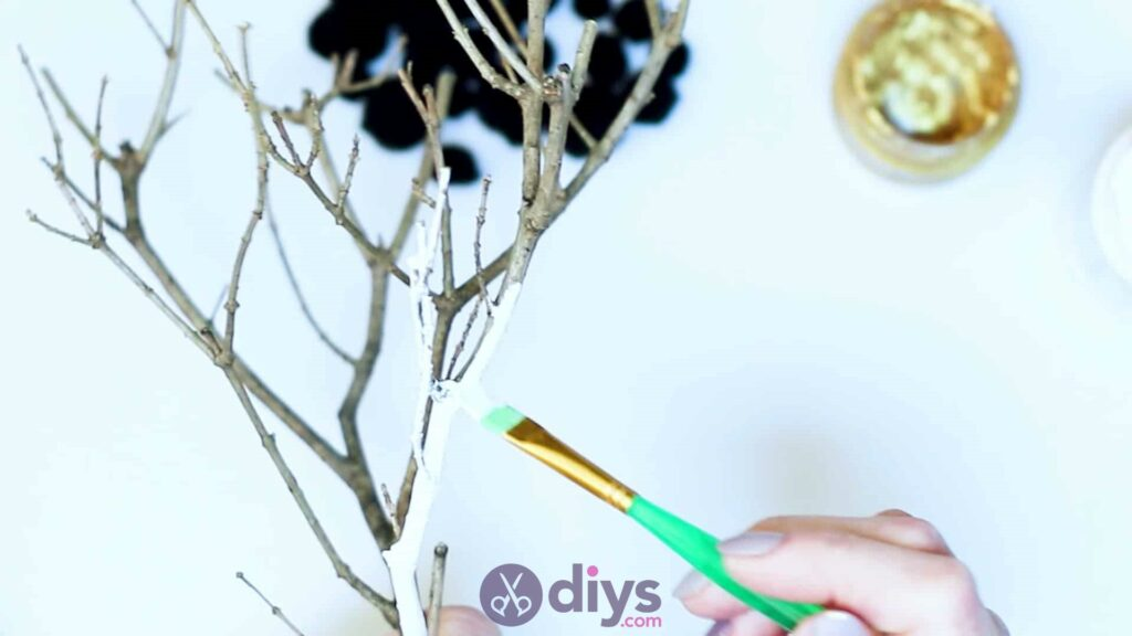 Diy pom pom tree art step 2c