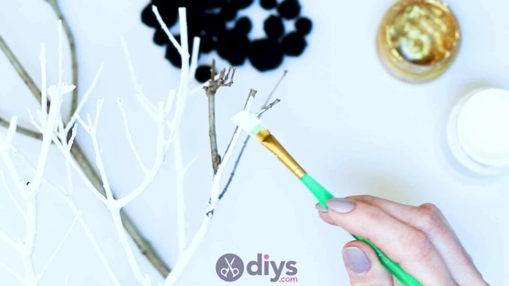 Diy pom pom tree art step 2e