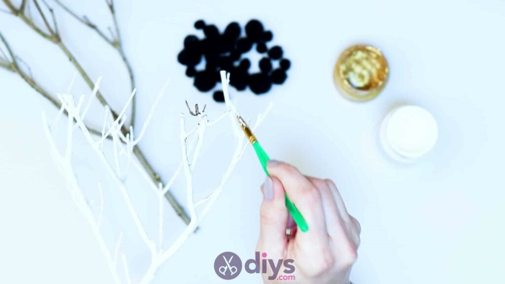 Diy pom pom tree art step 2f