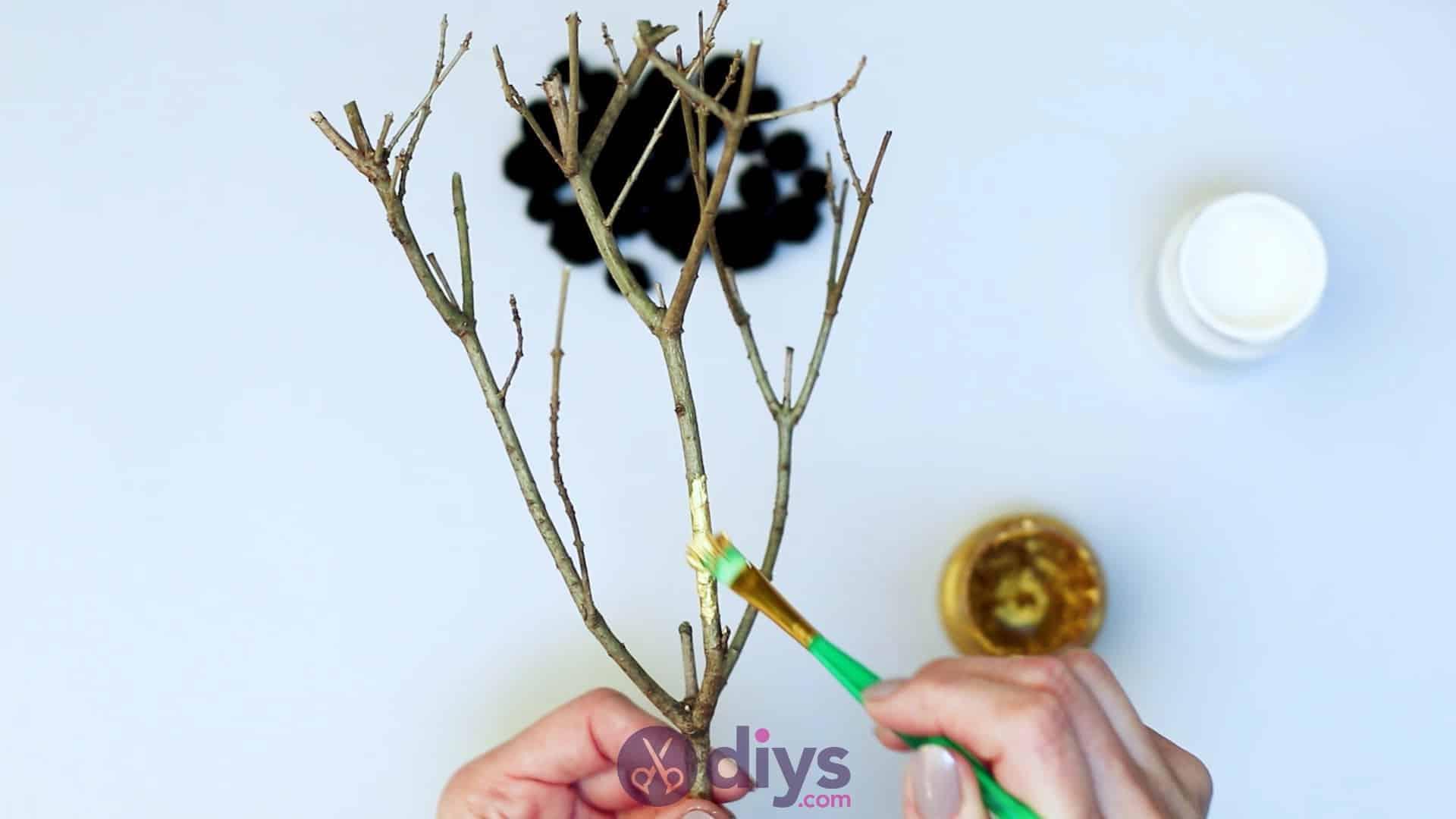 Diy pom pom tree art step 3a
