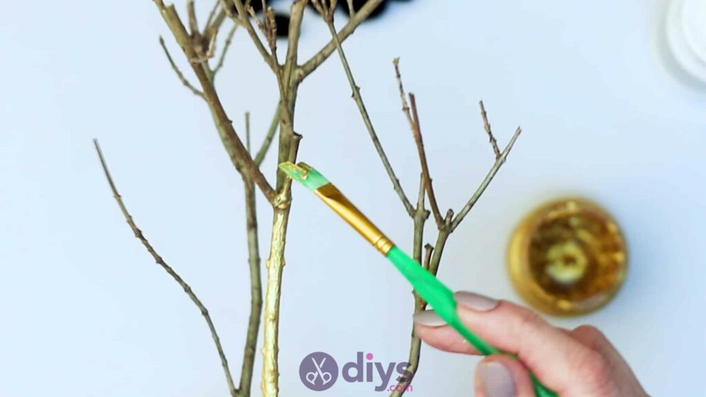 Diy pom pom tree art step 3b