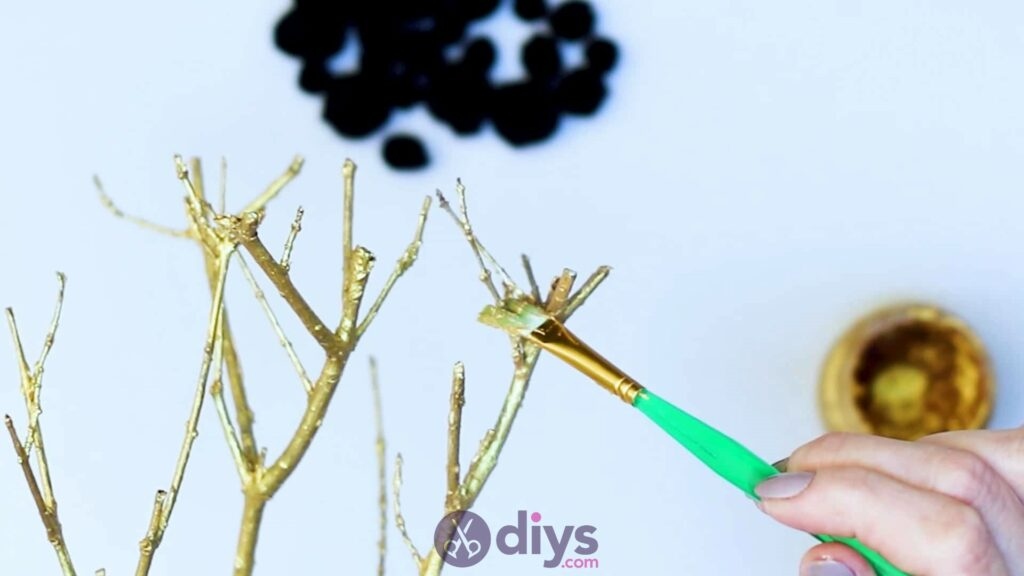 Diy pom pom tree art step 3g