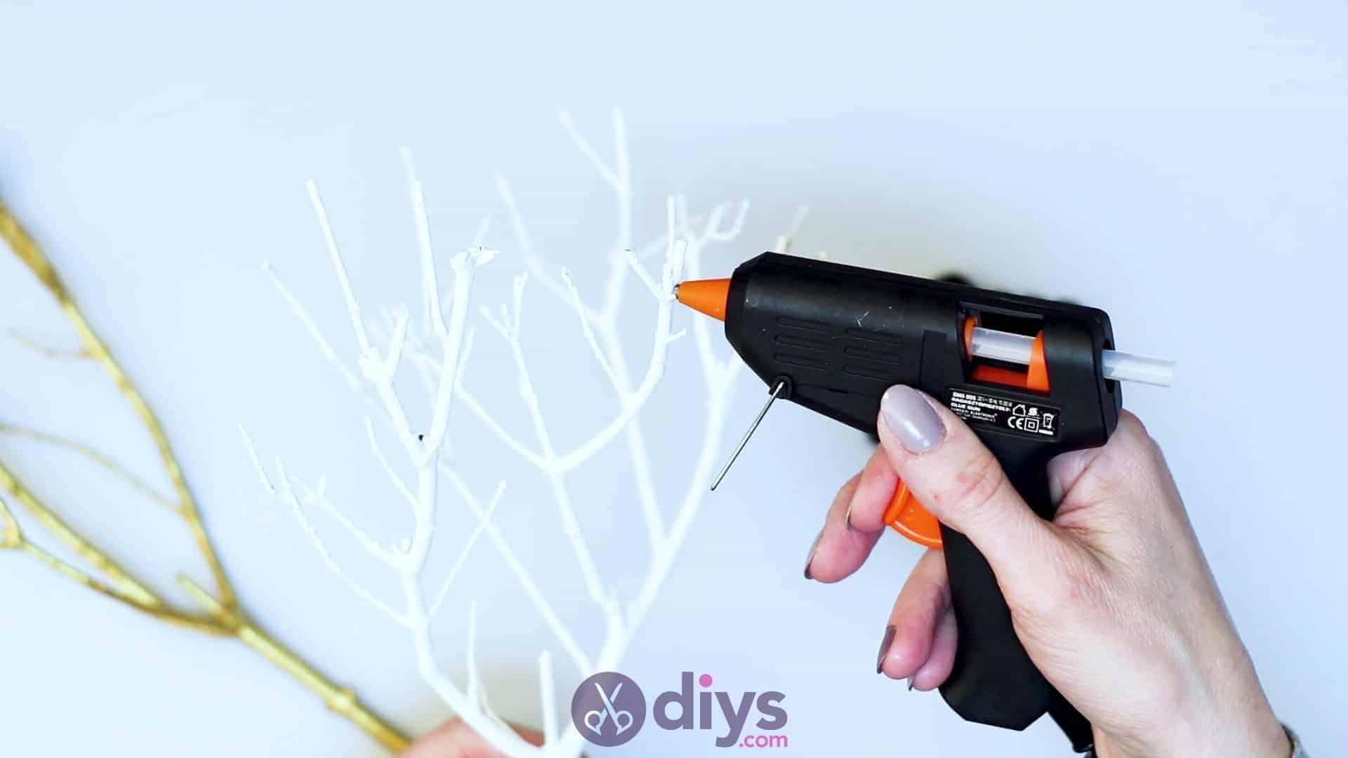 Diy pom pom tree art step 4