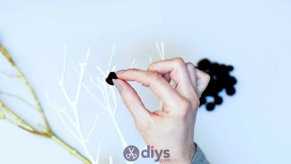 Diy pom pom tree art step 4a