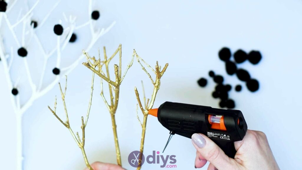 Diy pom pom tree art step 5
