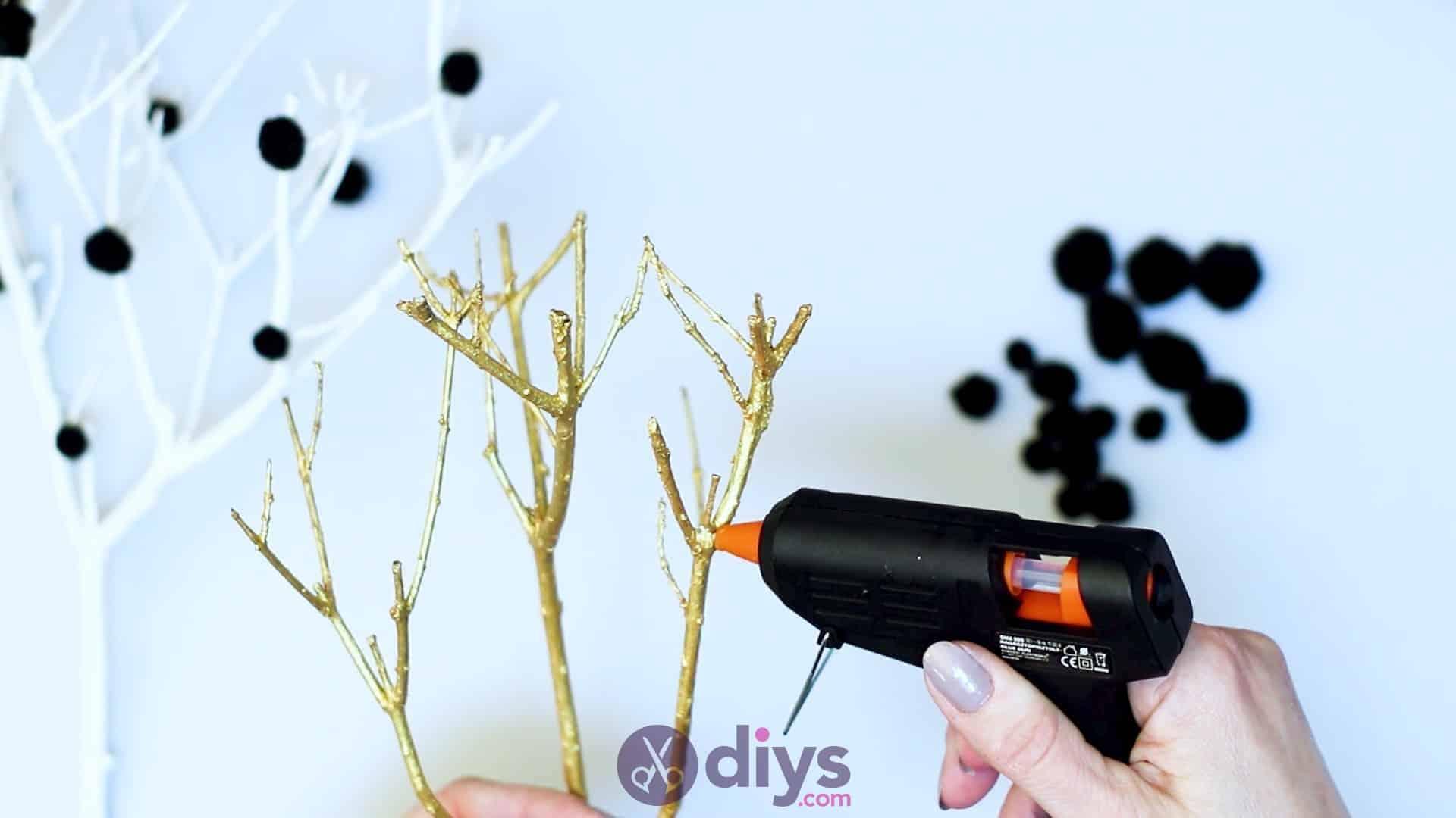 Diy pom pom tree art step 5