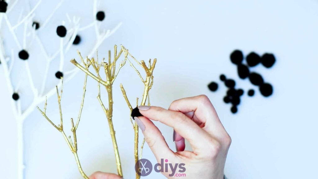 Diy pom pom tree art step 5a