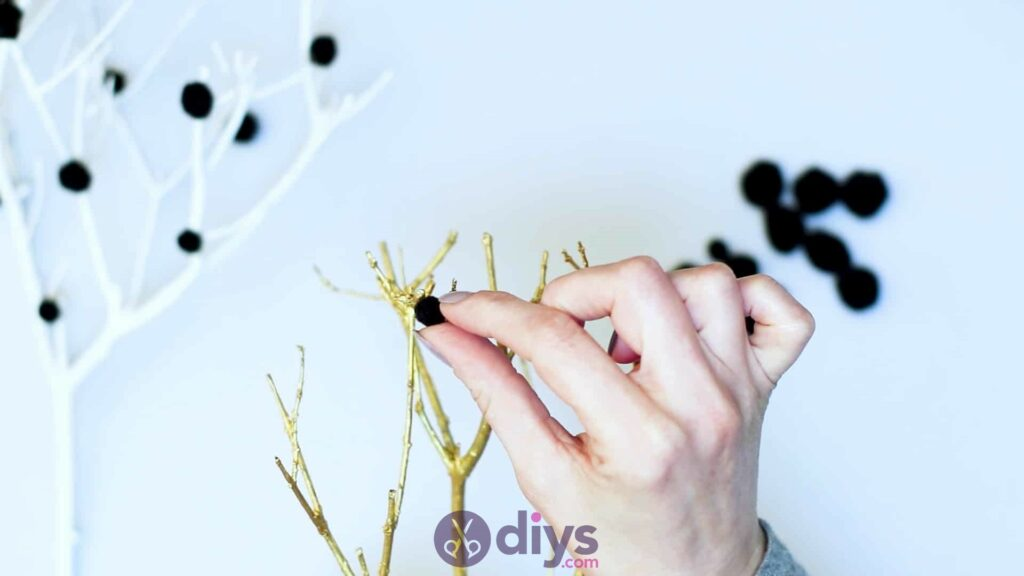 Diy pom pom tree art step 5b