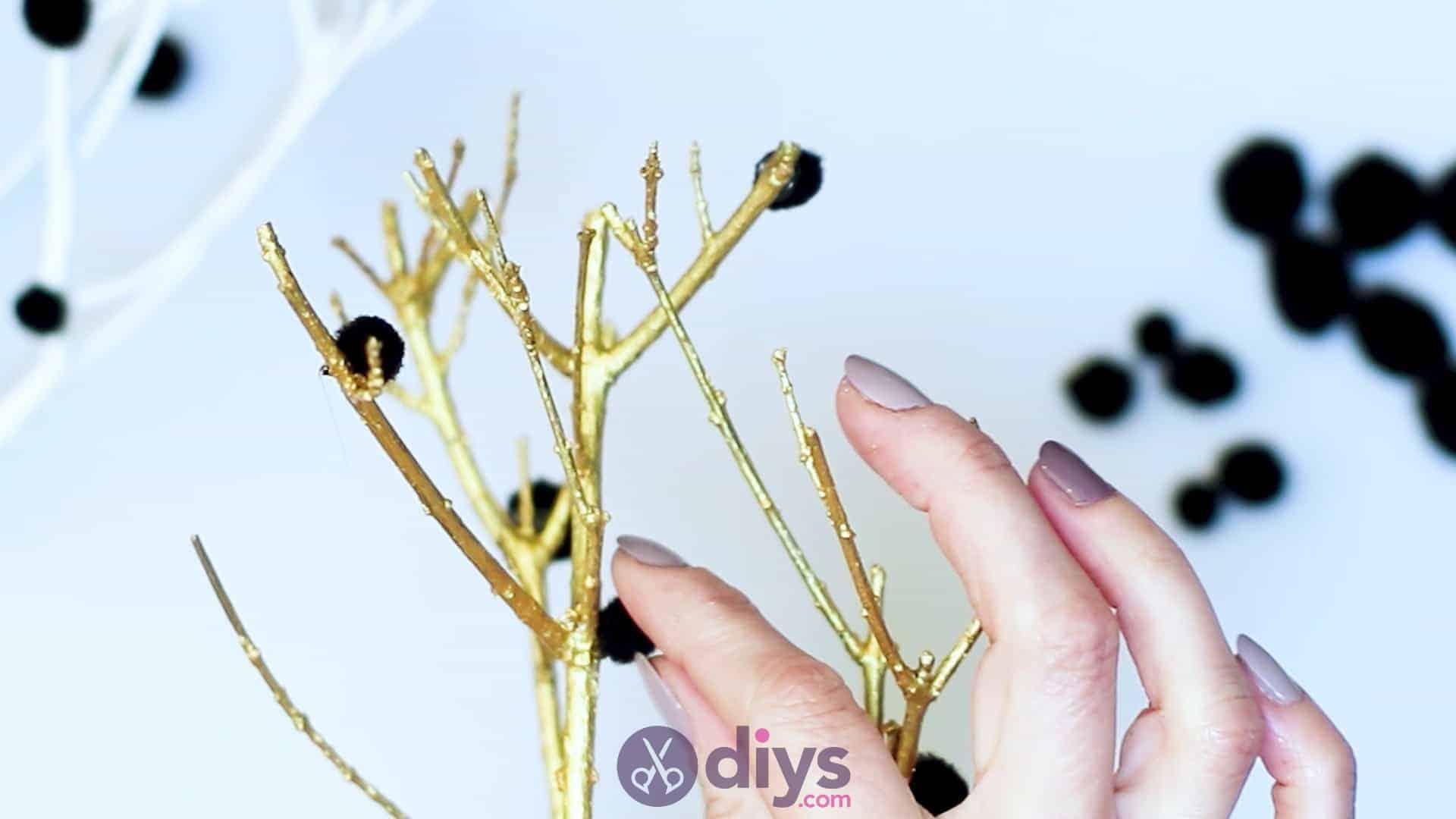 Diy pom pom tree art step 5e