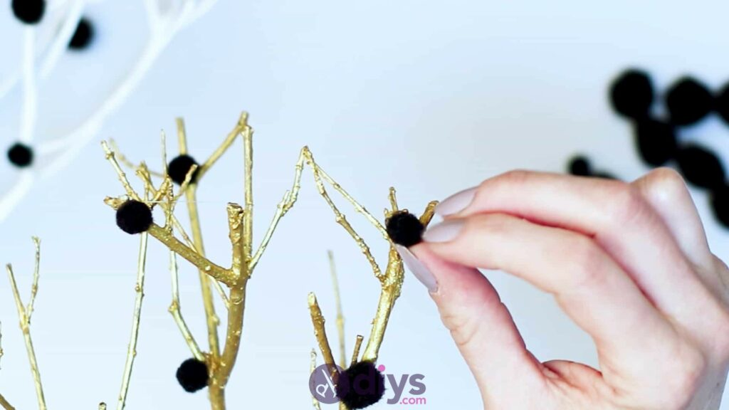 Diy pom pom tree art step 5g