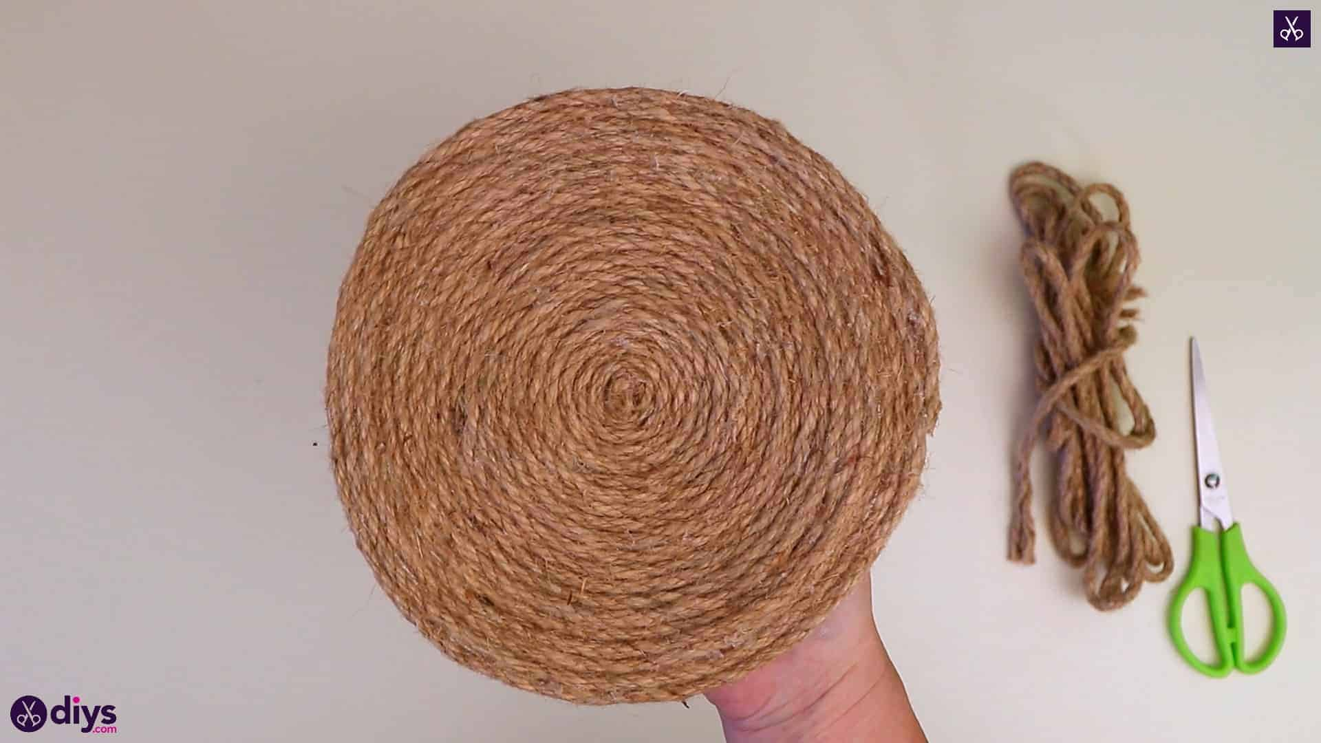 Diy round jute placemat rustic object
