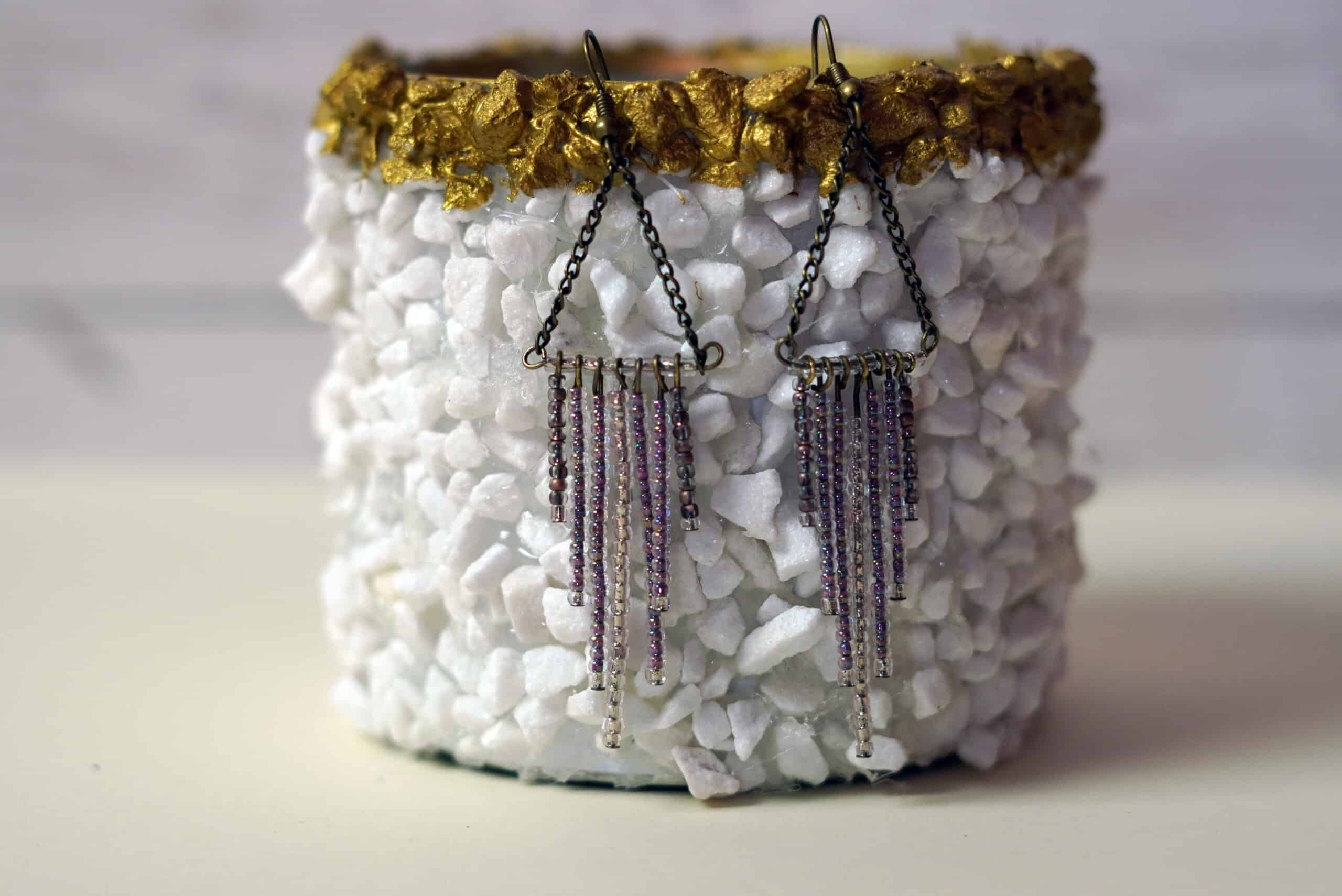 Diy seed bead fringe earrings beautiful accessories