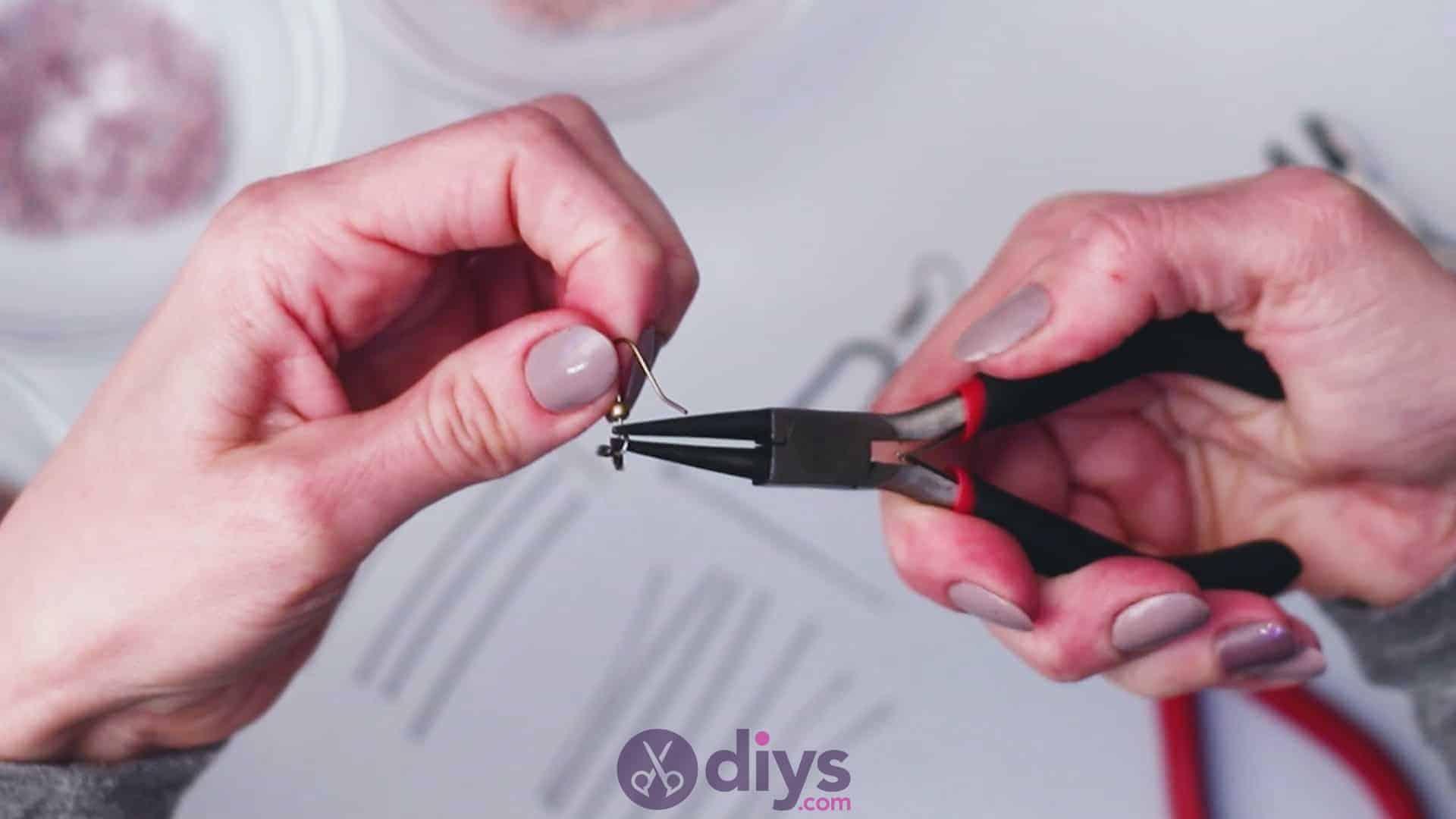 Diy seed bead fringe earrings step 1b