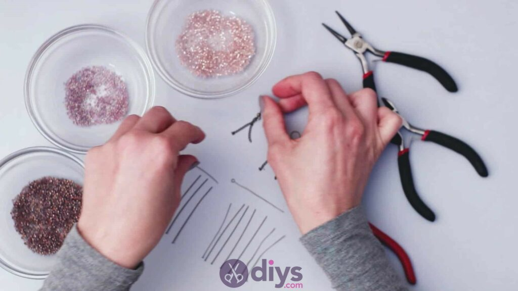 Diy seed bead fringe earrings step 1d