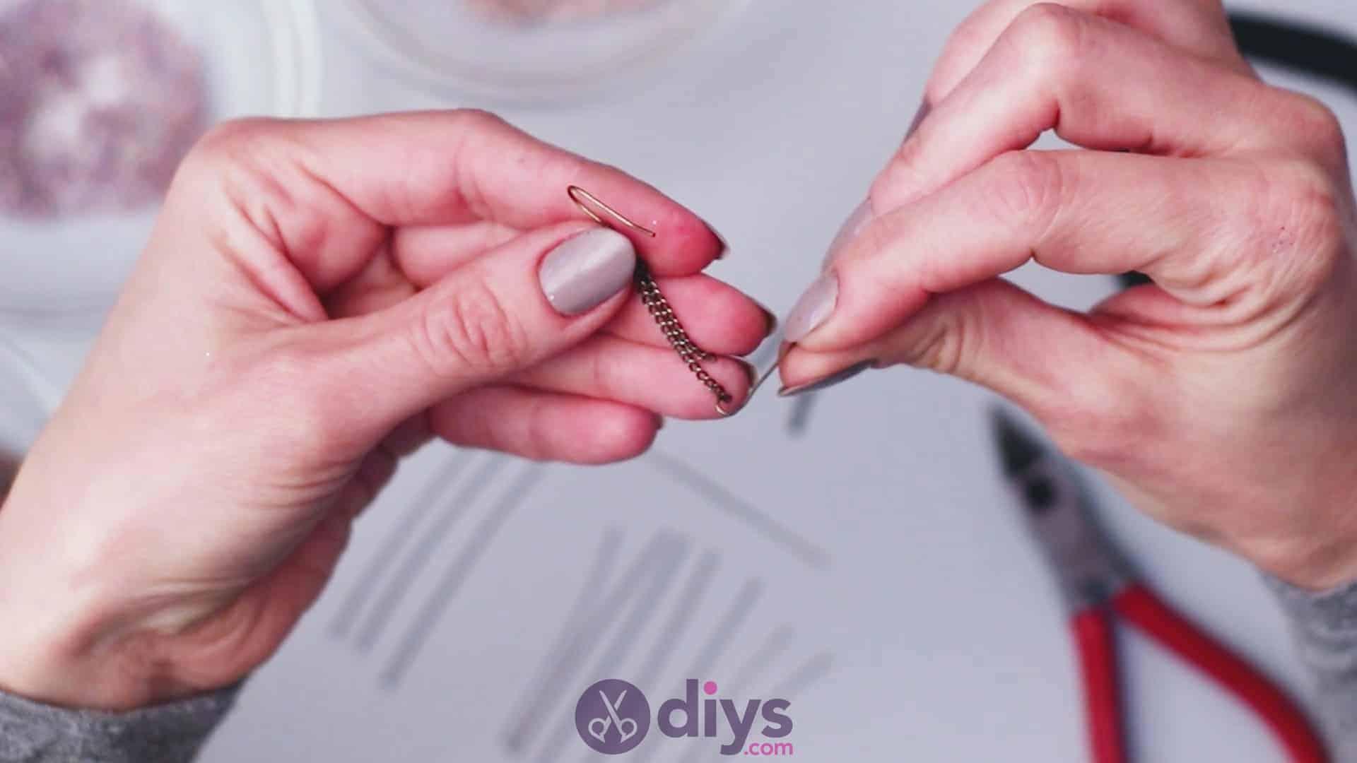 Diy seed bead fringe earrings step 3a