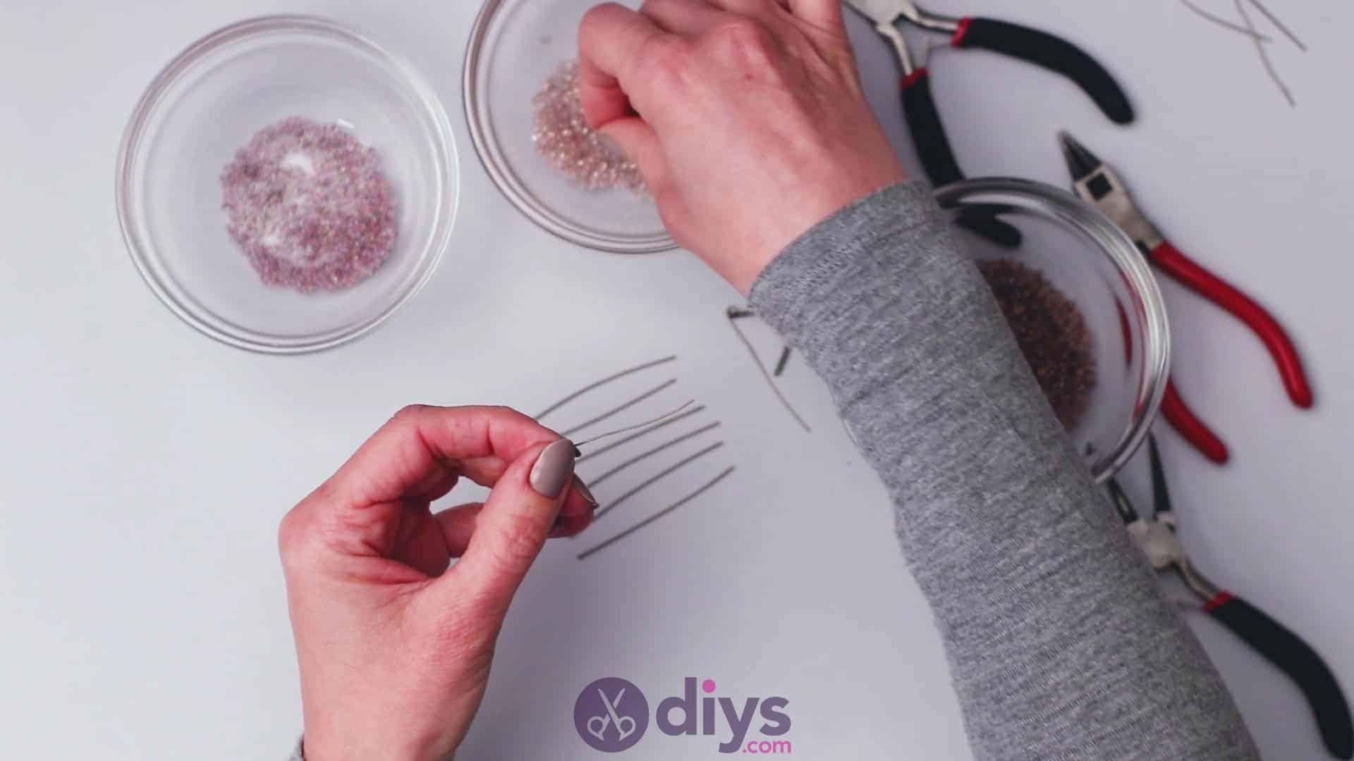Diy seed bead fringe earrings step 4