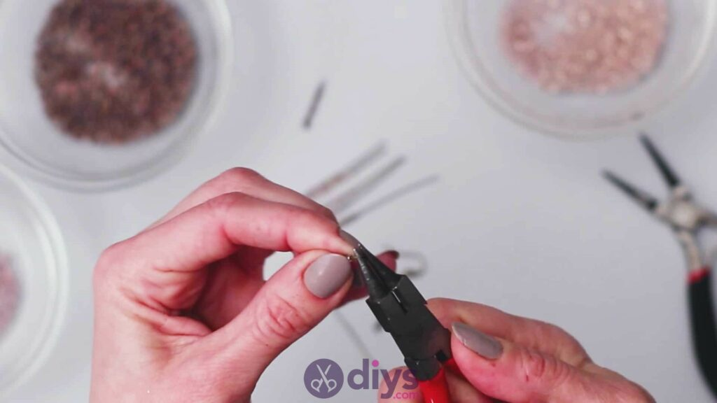 Diy seed bead fringe earrings step 5a