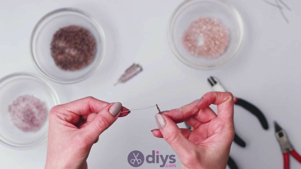 Diy seed bead fringe earrings step 6b