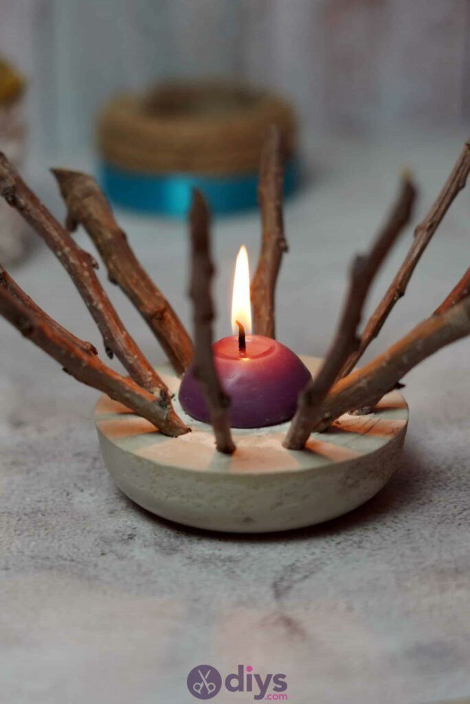 Diy wood concrete candle art step 6g