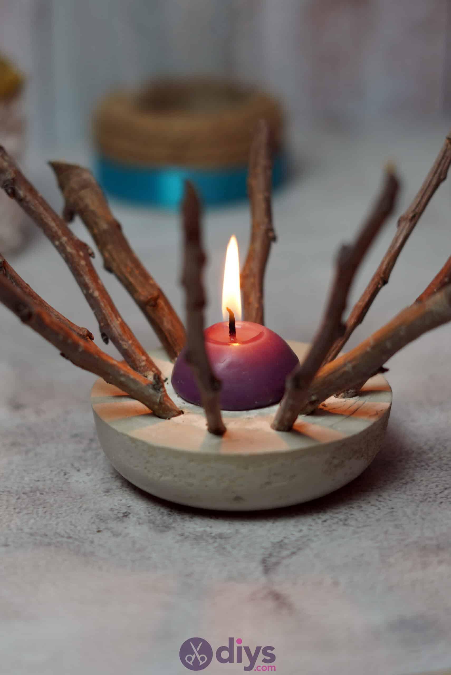 Diy wood concrete candle art step 6g