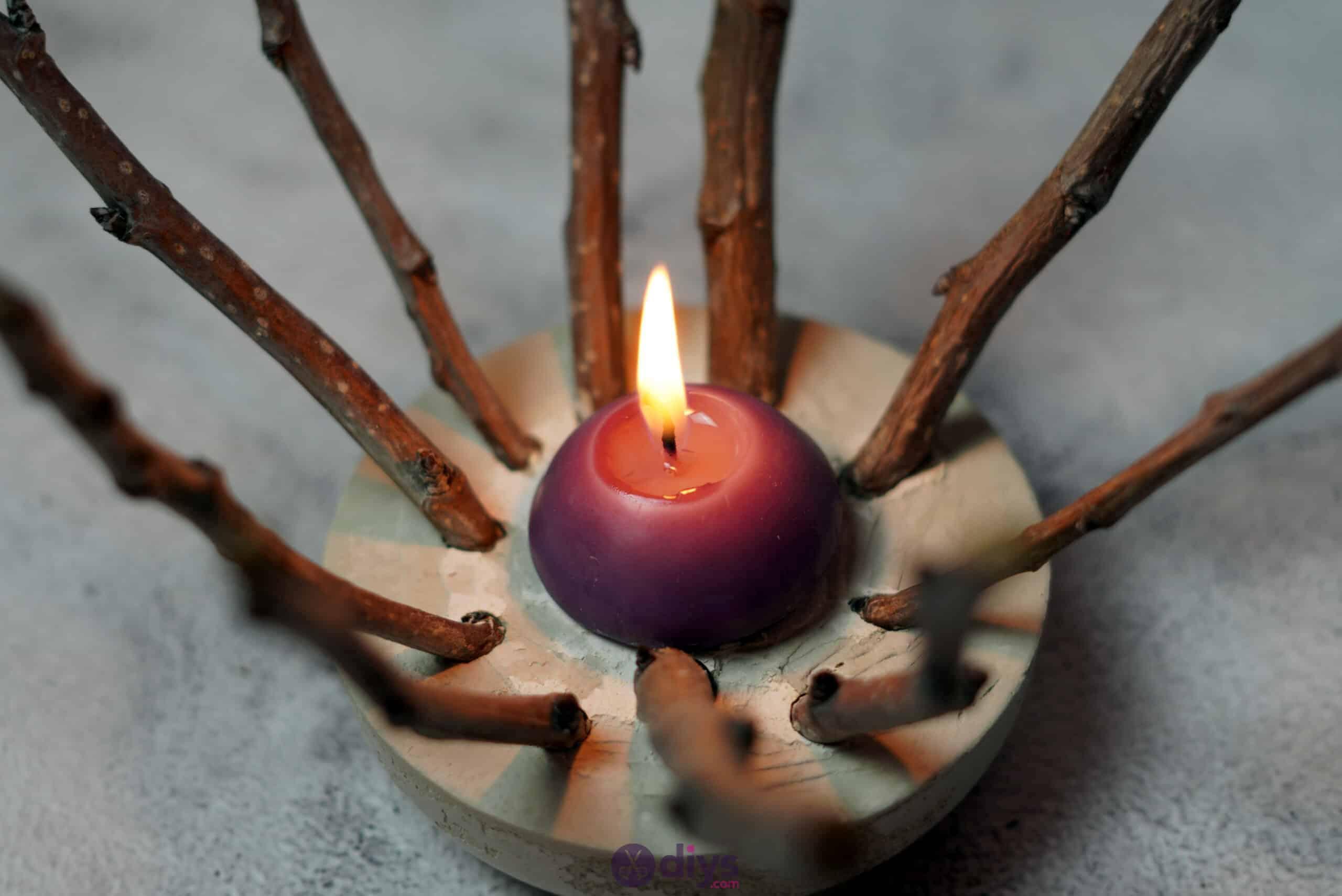 Diy wood concrete candle art step 6h