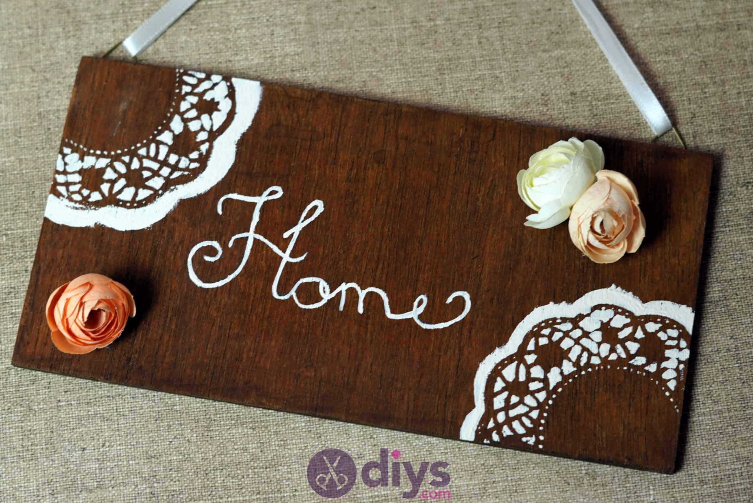 Diy wooden door sign painting