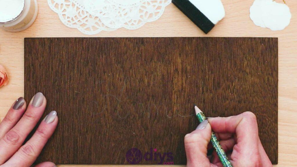 Diy wooden door sign step 2a