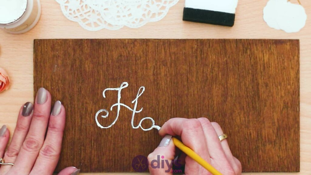 Diy wooden door sign step 3a