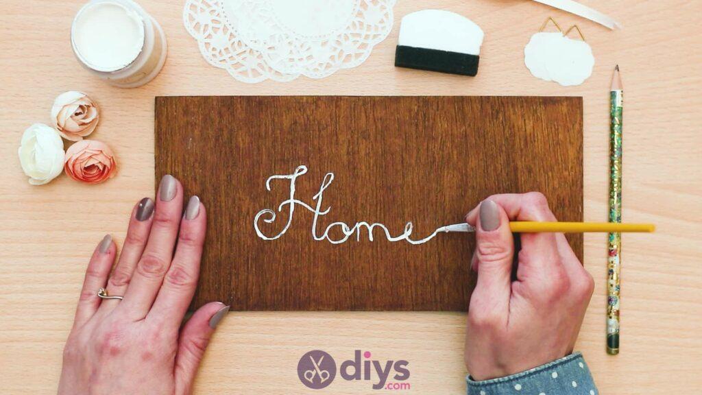 Diy wooden door sign step 3b