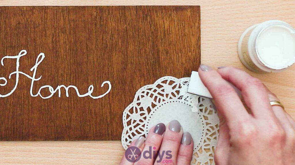 Diy wooden door sign step 4a