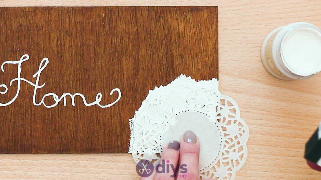 Diy wooden door sign step 4b