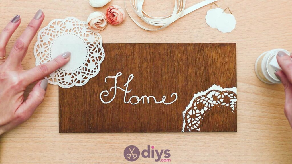 Diy wooden door sign step 5