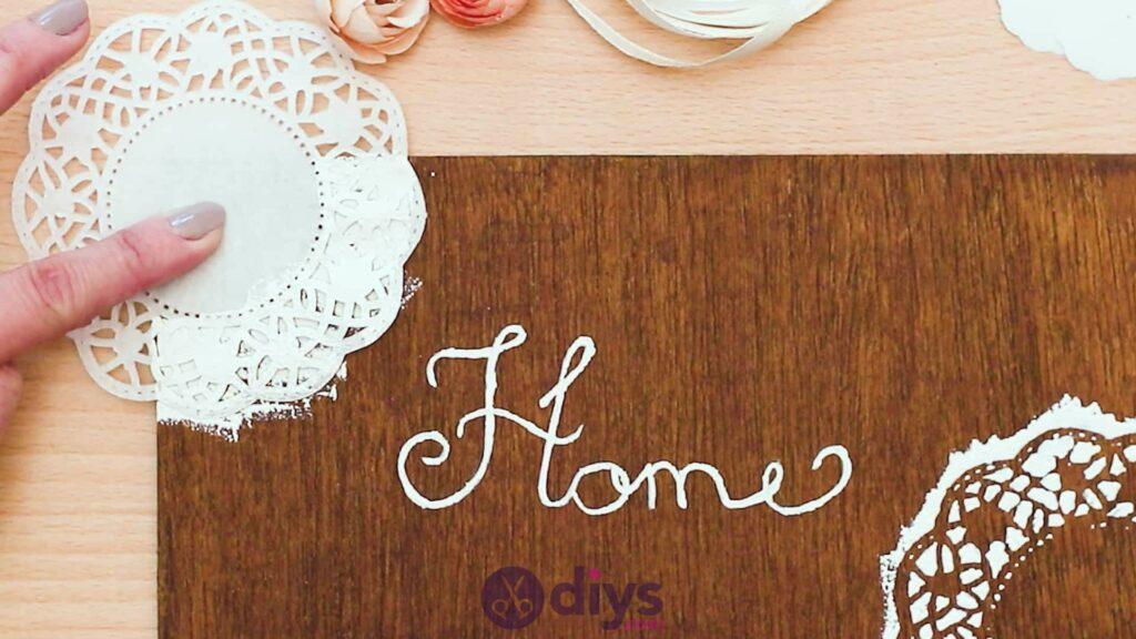 Diy wooden door sign step 5b