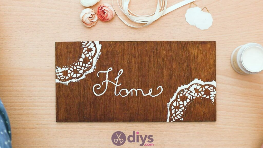 Diy wooden door sign step 5d
