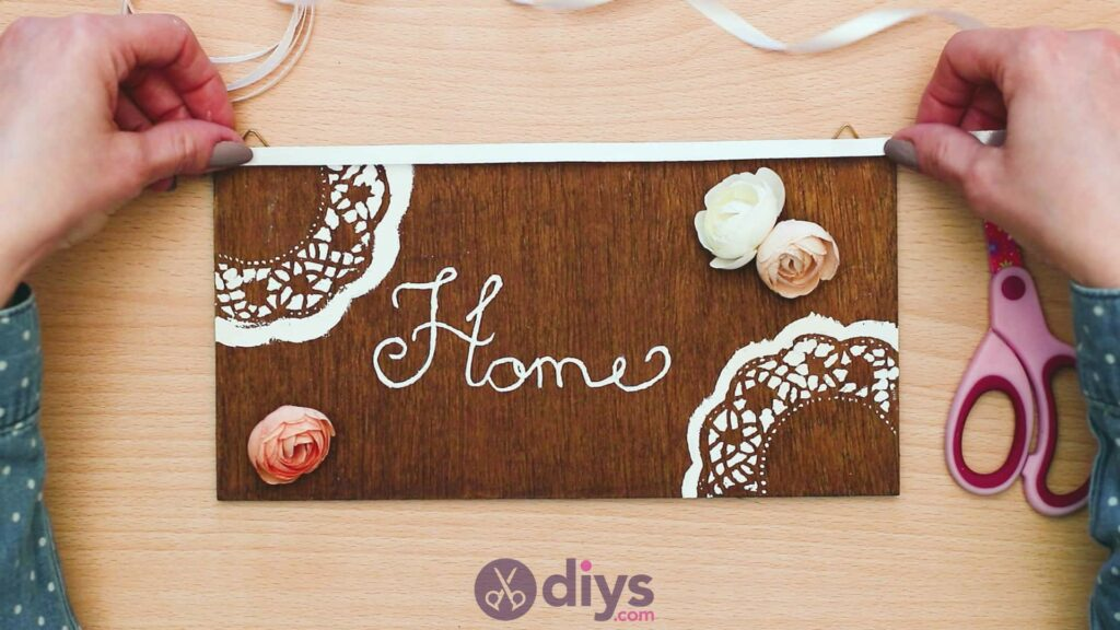 Diy wooden door sign step 9