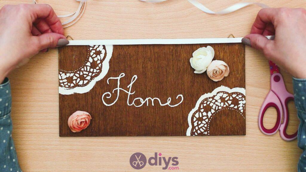 Diy wooden door sign step 9