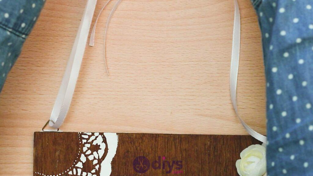 Diy wooden door sign step 9d